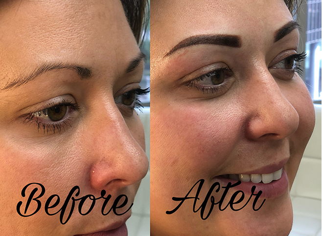 Ombre Brow Fill Before and After
